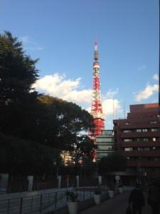 アメリカンクラブから見る東京タワー